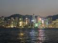 The Hong Kong skyline at night. Very beautiful!