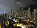 Night view from our hotel in Hong Kong.