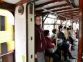 Riding the street cars in Hong Kong :).