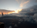 We had an absolutely spectacular send-off out of MSP. The sun and the clouds were stunning.