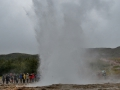 Geysir on the golden cirlce route in Iceland.