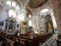 A ornate Catholic church in Innsbruck, Austria.