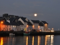 Moonrise in Galway, Ireland.
