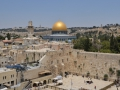 Jerusalem Wailing Wall and Dome of the Rock.