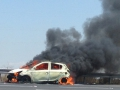We were surprised more cars weren't on fire. Israel is hot.