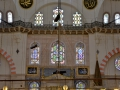 Inside a mosque in Istanbul.