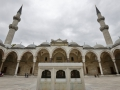 A mosque courtyard in Istanbul.