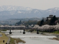 This is the city of Kanazawa and we stayed very close to the river. The city was cool and it was really neat that it was next to the mountains.