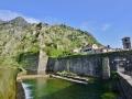 The walls of Kotor, Montenegro.