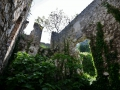 A ruined area of the city walls in Kotor.