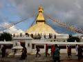 The stupa near our hotel.
