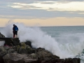 Cyclone Pam brought some pretty big waves. Yup, they got wet.