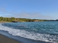 We visited the 'black beach' near Silver Bay. It's from the low quality taconite the mining companies dumped into the water back in the day. The lake crushed the taconite into sand over time and now it's the only black beach in Minnesota.