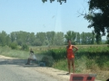 Prostitutes on the side of the road in Bulgaria.