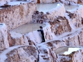 Salt mine in the Sacred Valley of Peru.