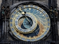 An 800 year old astrological clock in Prague.