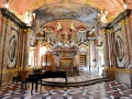 We went to a musical show in this small hall. Mozart had played there a handful of times.
