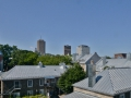 Cool aluminum roofs of Quebec City.