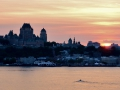Sunset in Quebec City.