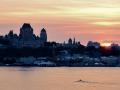Sunset in Quebec City.