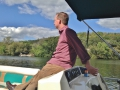 Boatin' around the lake in Zumbro.