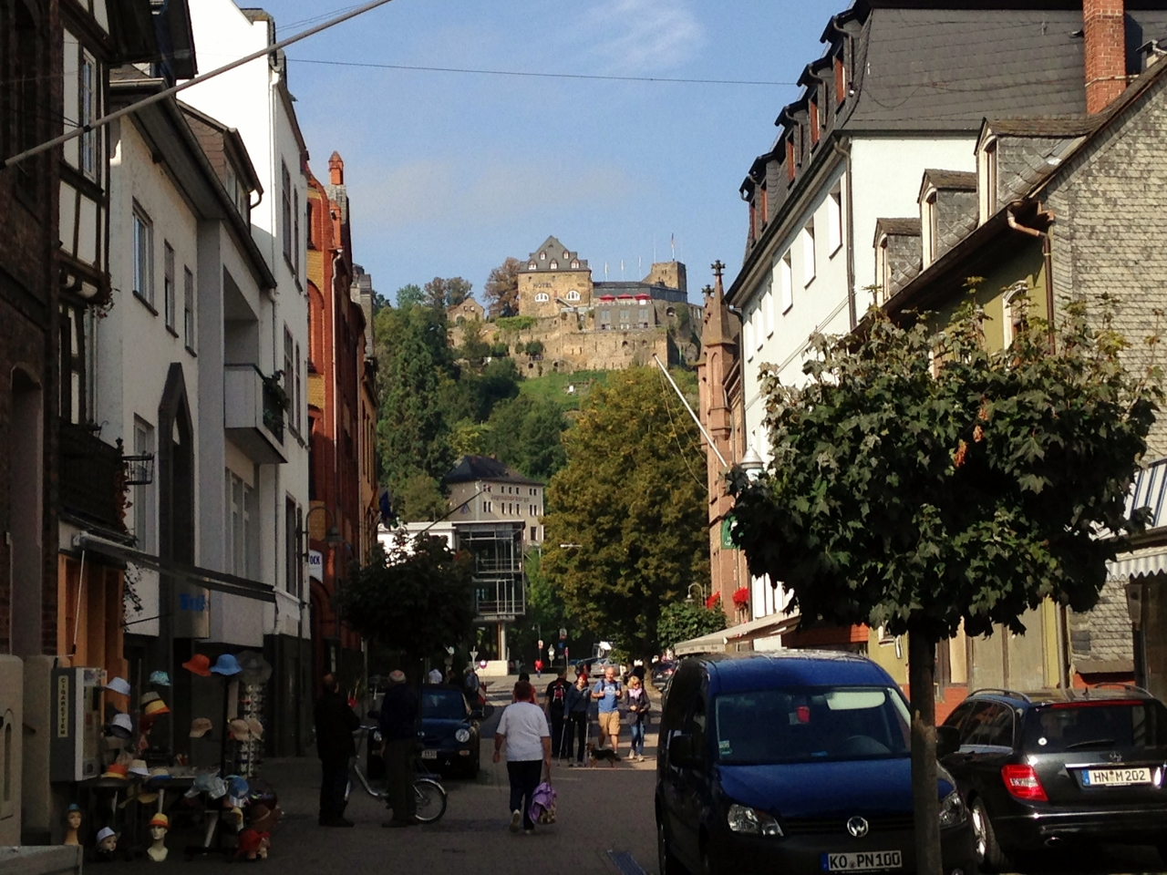 The view from St. Goar, Germany.