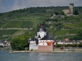 A castle for the castle on the Rhine River. The little castle on the water was used for enforcement of tolls by the guy living in the big castle on top of the hill.