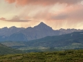 Sunrise near Telluride, CO