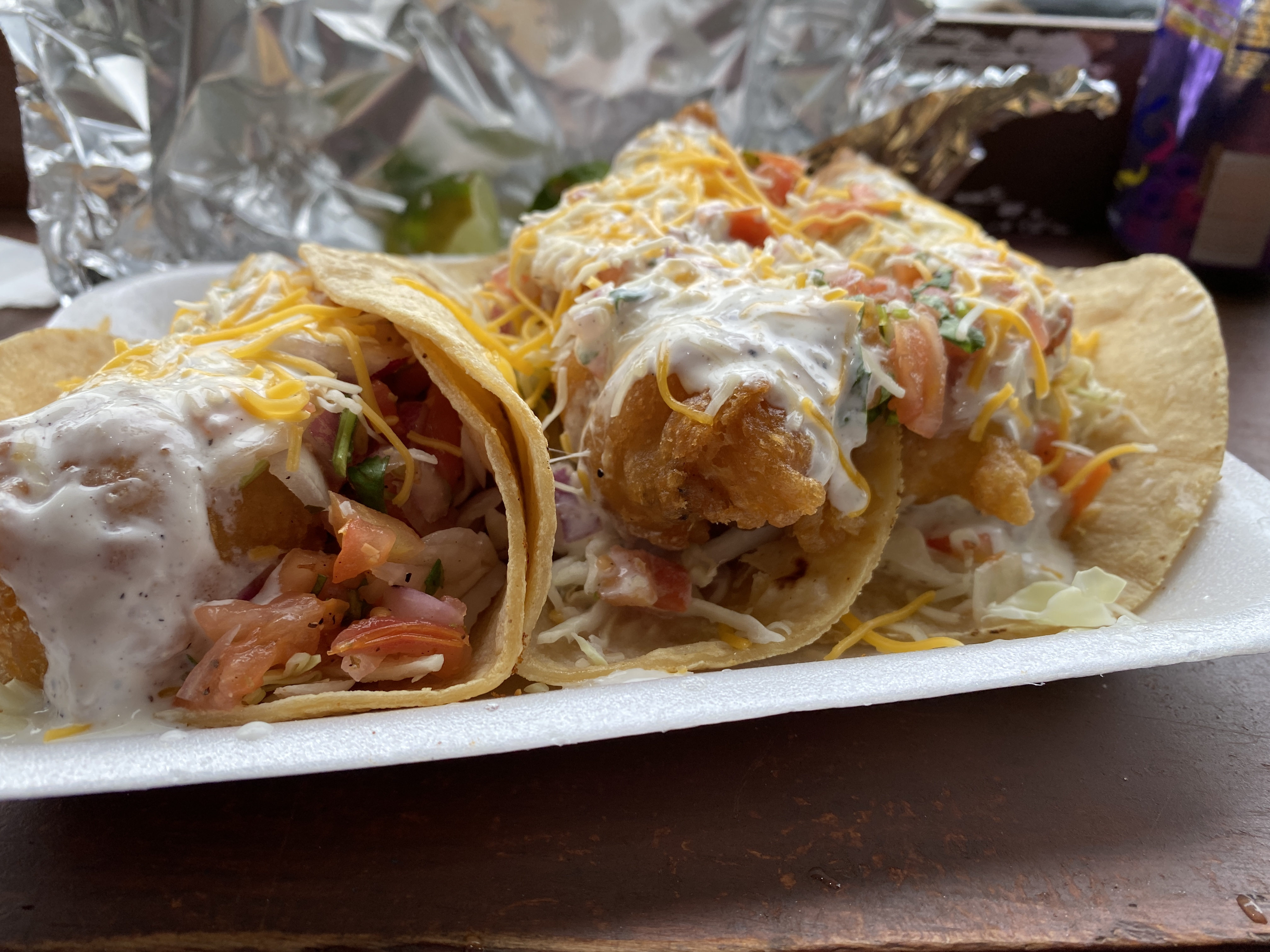 The best fish tacos can be found at a liquor store in OB.