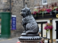 A special dog statue in Edinburgh, Scotland. The dog belonged to a policeman and joined the poiceman on his walking beat in the 1800s.