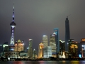 Downtown Shanghai from the Bund.