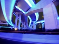 So many random things are illuminated in Shanghai - here the overpasses are neon blue!