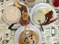 A beautiful southern breakfast with all the major items plus grits!