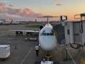 Beautiful sunset at the Nashville airport.