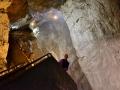 Jacquelyn in Devil's Throat Cave in Bulgaria.