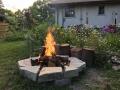 Fire pit I built to make our Minnesota evenings enjoyable :)