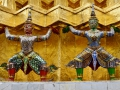 Monument in the Grand Palace complex, Bangkok. These dudes look tired from holding up the structure.