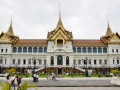 The Grand Palace, the king's residence in Bangkok, Thailand.