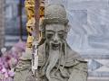 A sculpture at a wat in Bangkok.