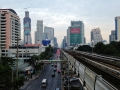 Bangkok, Thailand is a modern city with subway and elevated railway.