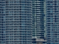 The pastel colors of downtown Toronto buildings.