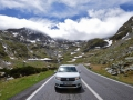 We drove our car as far as we could up the Transafaragas Pass. We went pretty far up the mountain until we turned around beause it became so cold and I started worrying about ice forming on the road. Plus, the road was blocked with snow!