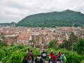 We took a walking tour of Brasov and really enjoyed it. We ended up being on Romanian TV!