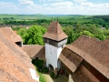 Fortified church in Viscri, Romania. They were built to protect the towns people from groups like the Ottomans.