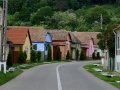 A lot of houses in Transylvania were painted some pretty cool colors.