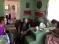 The grandmother served us a delicious lemonade like drink and we asked for the recipe - the grandaugher is translating.