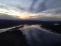 Flying into Albany at Sunset.