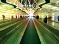 Lots of airports have these cool walk ways. I always enjoy them. This is at Chicago O'Hare.