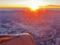 Sunrise / sunset on a plane is cool.