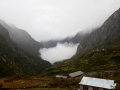 We ended up getting stuck in Langtang during a storm. It wasn't great. The fog would roll in from the lower elevations, it'd rain, fog would go away and then the cycle would repeat. This happened for one and half days straight!